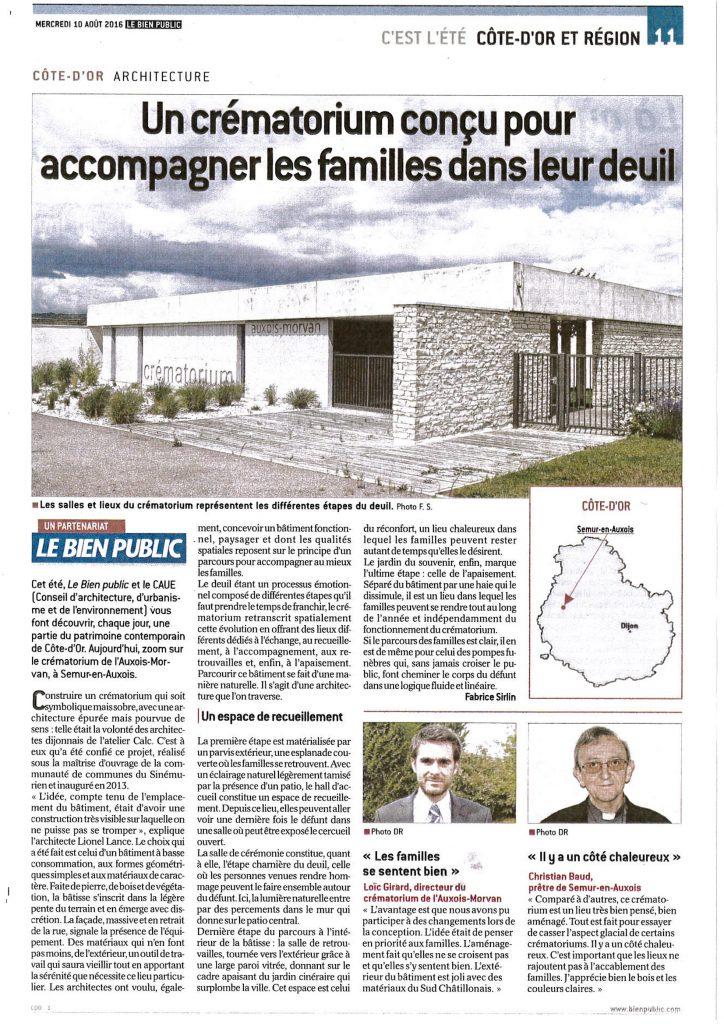 Architecture Crématorium Auxois-Morvan, Atelier Calc, , Lionel Lance, Père Baud, Loïc Girard