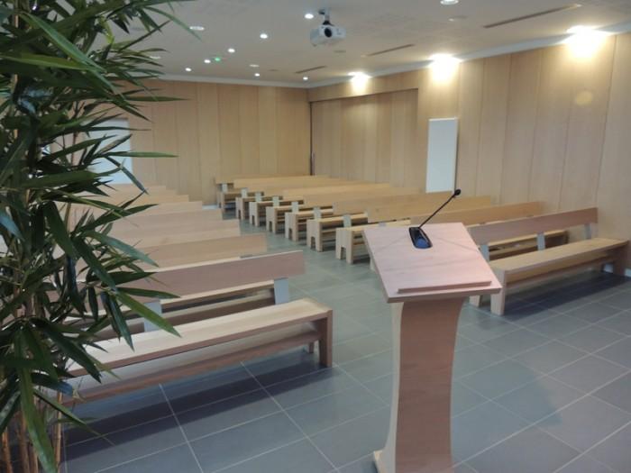 photo de la salle de culte du crematorium auxois morvan semur en auxois